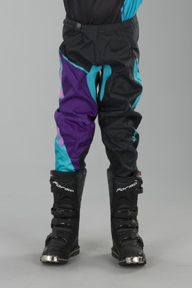 Alias A2 Burst Children's MX Pants Black-Aqua