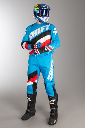 Shift Whit3 Tarmac MX Clothes Blue-White