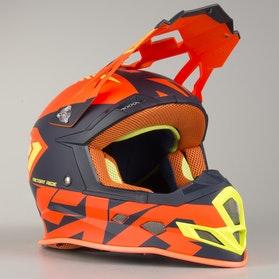 Kask Cross FXR Boost CX Prime Pomarańczowo-Niebiesko-HiVis