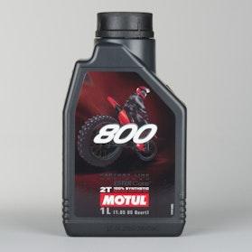 2-Taktsolie 2-Pak Fuldsyntetisk Motul 800 Factory Line Offroad 2x1L