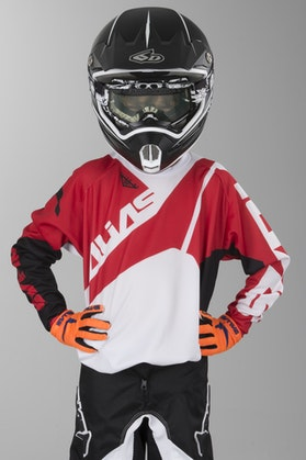 Alias A2 Youth Motocross Jersey Black-Red