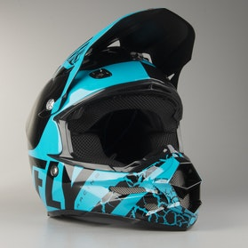 FLY F2 Fracture Cross-Helmet Blue-Black