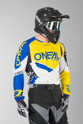 Bluza Cross O'Neal Hardwear Flow True Niebiesko-Żółta