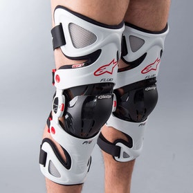 Alpinestars Fluid Pro KneeBrace White-Black-Red
