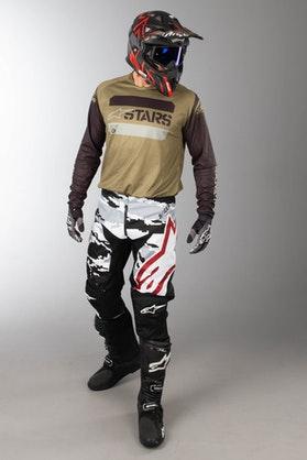 MX Oblečení Alpinestars Racer Tactical Černé-Šedé-Maskovací