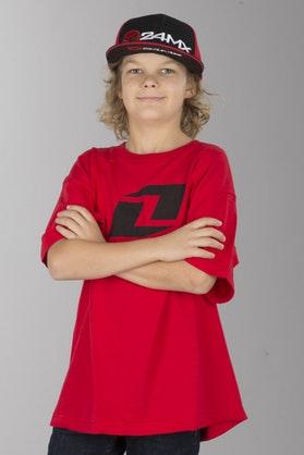 T-Shirt One Industries Icon Dziecięcy Czerwono-Czarny