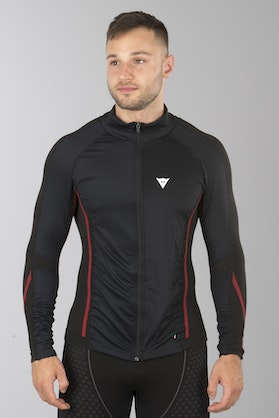 Dainese D-Core No-Wind Thermo Tech T-Shirt Black-Red