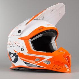 Kask Cross O'Neal 5 Series Trace Biało-Pomarańczowy