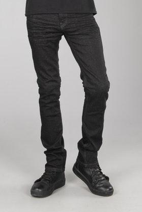 Jeans Course Burnout Slim Fit Aramidforstærkede, Sort