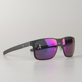 Oakley Holbrook Metal Sunglasses Matte Black-Red