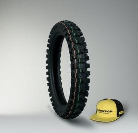 Dunlop Geomax MX52 Tyre + Cap