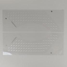 Beskyttelse Mærkater OneDesign Bubbles Højre+Venstre 310x114mm