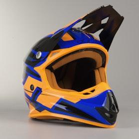 Kask Cross JT Racing Prime Niebiesko-Biało-Pomarańczowy