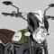 Owiewka Puig Retrovision Ducati Czarna-Przezroczysta