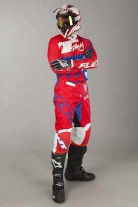 JT Racing Flex MX Clothing Kit Exbox Red-Blue-White