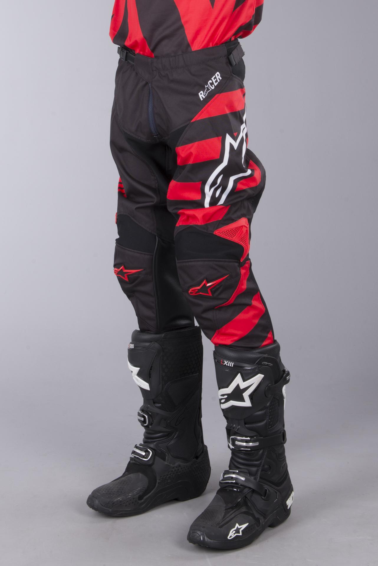 2018 Alpinestars Racer FLAGSHIP Red White Black Motocross Gear