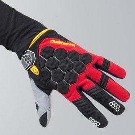 On Board Kid Kx-3 MX Gloves Black-Red-Flou