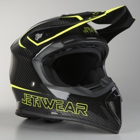 Kask skuterowy Jethwear Imperial Carbon/Hi-Vis