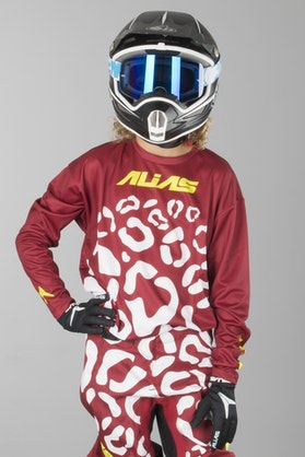 Alias Youth A2 Cheetah Jersey Maroon-White