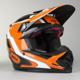 Crossová Helma Bell Moto-9 Flex Factory Oranžová-Černá