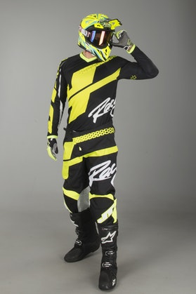 JT Racing Flex MX Clothing Kit Hi-LoBlack-Neon Yellow