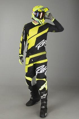 Motokrosové Oblečení JT Racing Flex Hi-Lo Černá-Neonová Žlutá