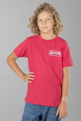 T-Shirt Alias Patch-2 Dziecięcy Czerwony