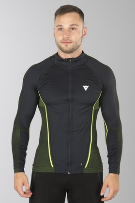 Dainese D-Core No-Wind Dry Tech Top Black-Yellow