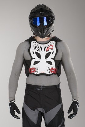Alpinestars A-10 Chest Protector White-Black-Red