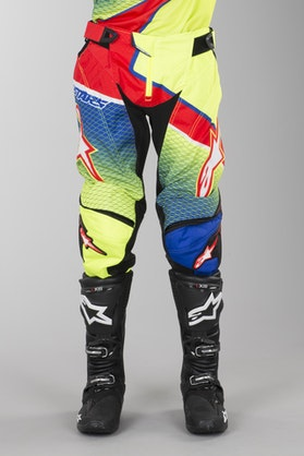 Alpinestars Techstar Venom Pants Blue-Fluorescent Yellow-Red
