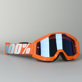 Gogle Cross 100% Strata Pomarańczowe