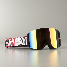 "Raven Edge ""Assassin"" MX Goggles Red Mirror"