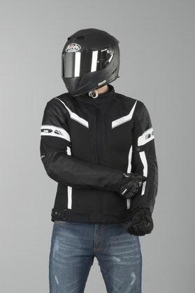 IXS Ashton Jacket Black-White