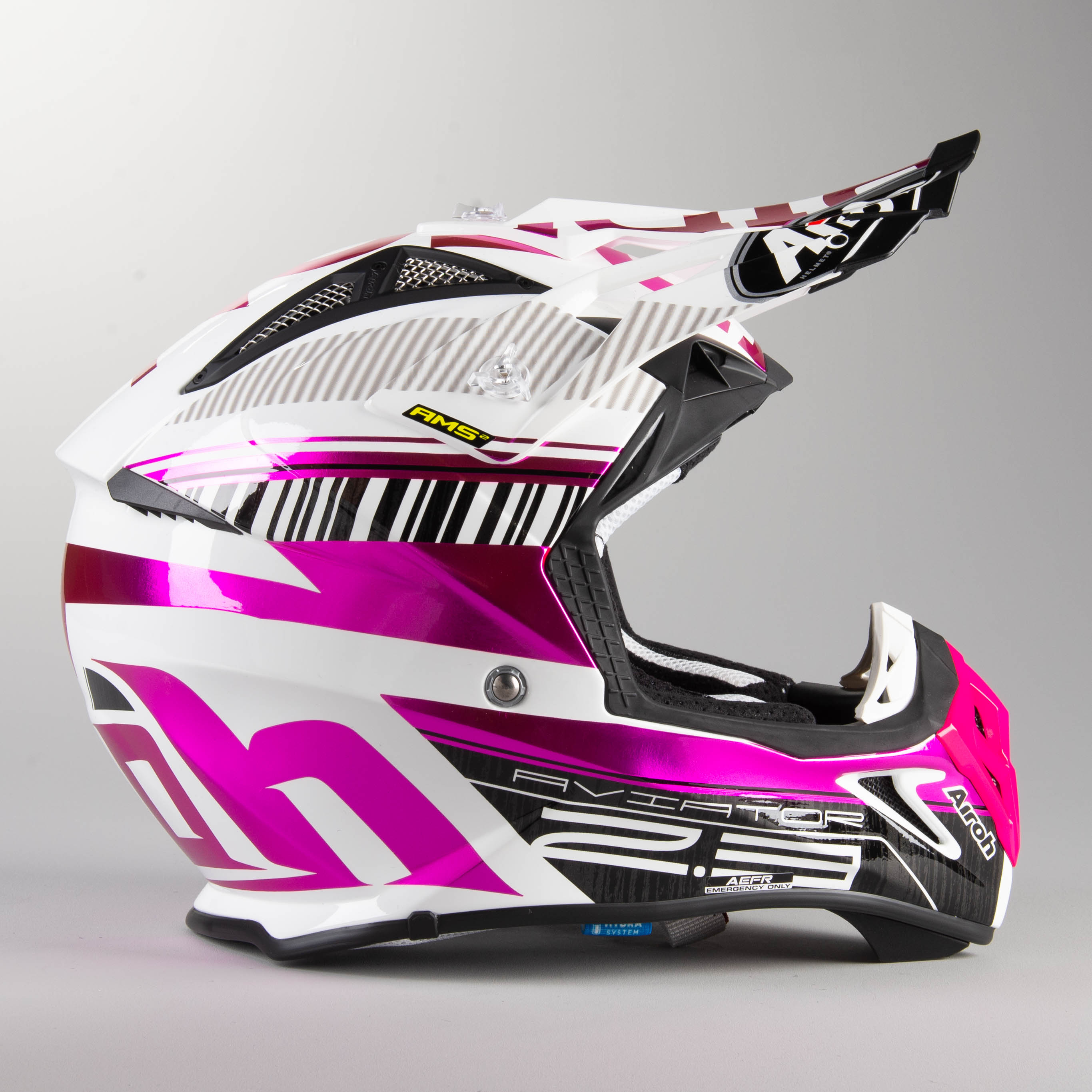 CASCO AIROH AVIATOR 2.3 NOVAK CHROME PINK M