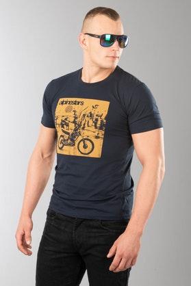 T-Shirt Alpinestars Stunt Premium Marynarski