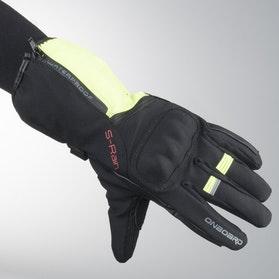 Rękawice On Board Cordura S-Rain Czarno-Fluorescencyjno Żółte