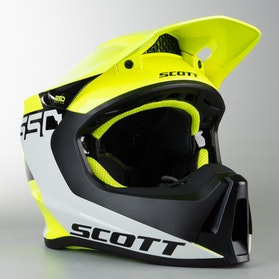 Kask Cross Scott 550 Woodblock ECE Szaro-Żółty