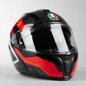 Kask Motocyklowy AGV SPORTMODULAR  Karbon Czerwony Biały