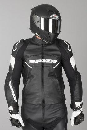 Ignite Leather Jacket Black-White