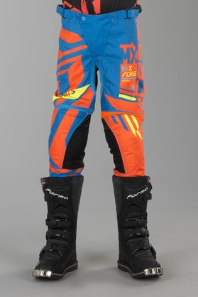 Acerbis Fitcross Youth MX Trousers Blue-Orange
