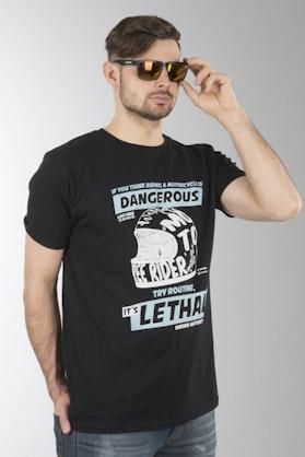 Koszulka  XLMoto Dangerous Czarna