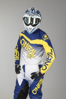 Bluza Cross O'Neal Element Racewear Niebiesko-Żółta