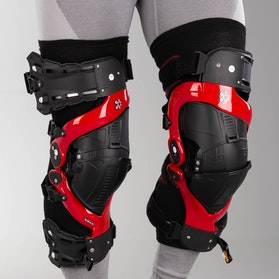 Asterisk Ultra Protection System 2.0 Knee Guard Red Pair