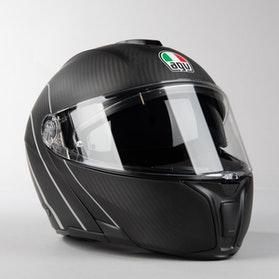 Kask Motocyklowy AGV SPORTMODULAR  Karbon Srebrny