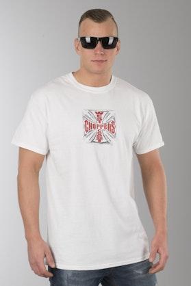 T-Shirt West Coast Choppers Web Cross Biały
