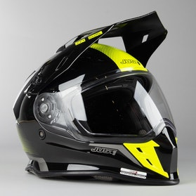 Just1 J34 Adventure Shape MX Helmet Neon Yellow
