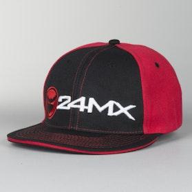 Czapka 24MX Braap Czarno-Czerwona