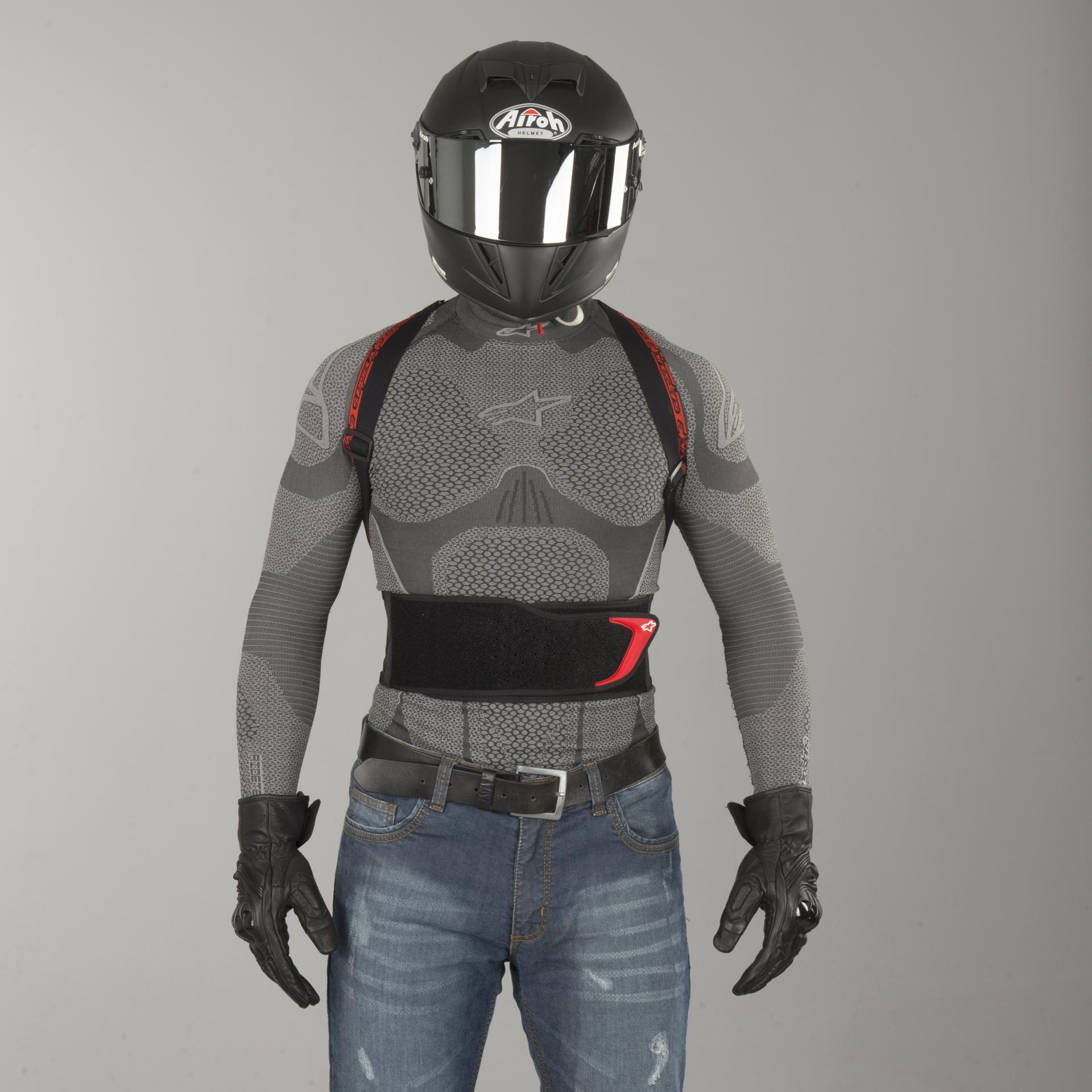 Protector de Espalda Alpinestars Nucleon KR-1 Negro//Ahumado//Rojo XL