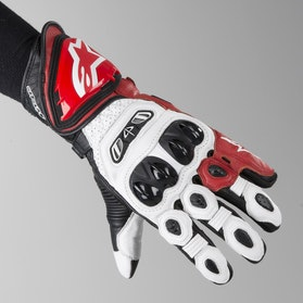 Rękawice Alpinestars GP Tech Biało-Czerwono-Czarne