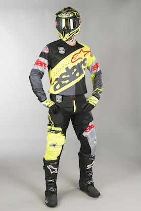 Alpinestars Racer Flagship MX Clothes Fluo Yellow-Black-Anthracite